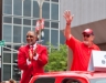 Ozzie Smith and Bruce Sutter in the Red Carpet Parade at the All Star Game