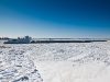 Winter on the frozen Mississippi River