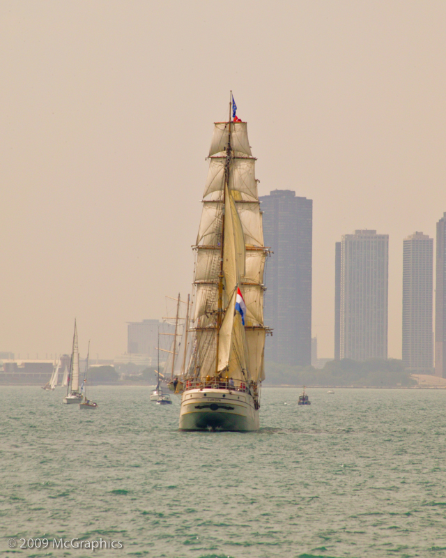 Chicago Illinois lake front Tall Ship Festival