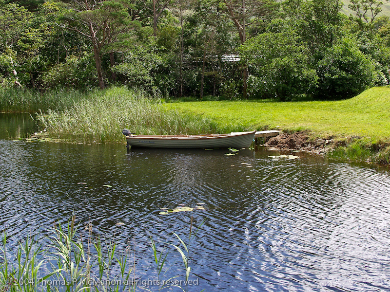 A boat in lake in Ireland