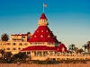 From the beach at the Hotel Del Coronado at Sunset